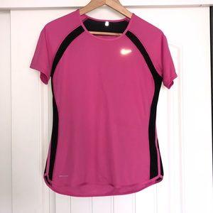 Nike dry-fit, pink women's tee in Medium